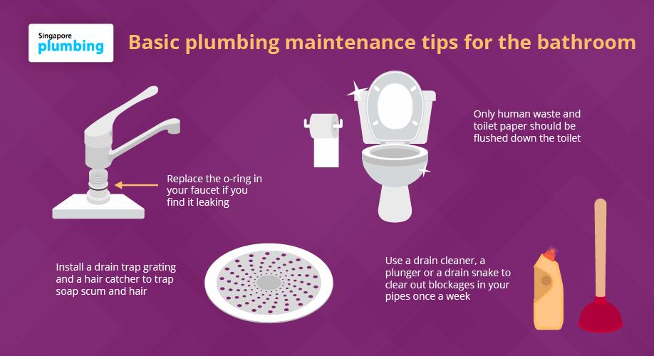 basic plumbing maintenance tips for the bathroom